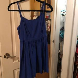 Royal blue sundress with open back. American Eagle